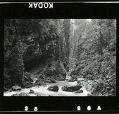 Entrar em contato com o Rio de montanha marca no vale — Fotografia Stock