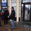 Stock Photo: Ukrainians massively withdraw money from banks