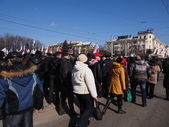 Pro-Russian rally in Lugansk — Stock Photo