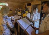 Cantores para o coro da igreja — Foto Stock