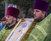 Religious leaders pray for peace in Luhansk — Stockfoto