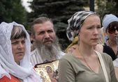 Religious leaders pray for peace in Luhansk — Stock Photo