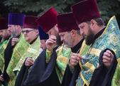 Religious leaders praying — Stock Photo