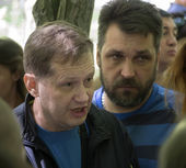 Parents of students picket Luhansk University MIA — Stock Photo