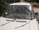 Guarda nacional ucraniano bombardeada pró-russa militantes checkpoint — Foto Stock