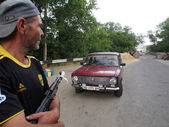 Army Southeast strengthens checkpoints, Statisa Luchanskaya, Ukraine — Stock Photo