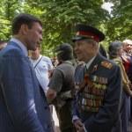������, ������: Oleg Tsarev talking elderly man