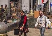 Lugansk prepares for a referendum — Stock Photo