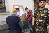 Lugansk prepares for a referendum — Stock Photo