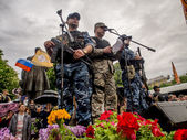 Pro-Russian activists claimed victory — Stock Photo
