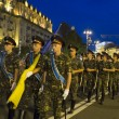 Постер, плакат: Military parade rehearsal in Kiev ahead of Independence Day