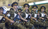 Military parade rehearsal in Kiev ahead of Independence Day — Stock Photo