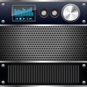 Hi-fi-kontroll däck — Stockvektor