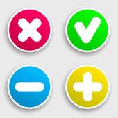 Quattro adesivo colorato — Vettoriale Stock