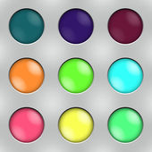 ボタン セット — ストックベクタ