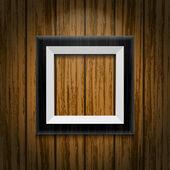 Black photo frame — Stock Vector