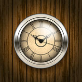 Antique clock — Vector de stock