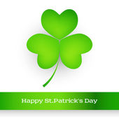 St. Patrick's greeting card — Vettoriale Stock