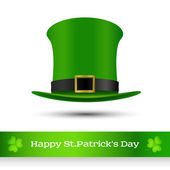 St. Patrick's day green hat of a leprechaun — Stock Vector