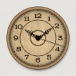 Old antique wall clock — Stock Vector #48073585