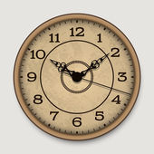 Old antique wall clock — Stock Vector