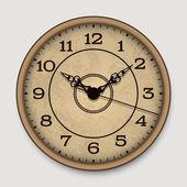 Vecchio orologio da parete antico — Vettoriale Stock