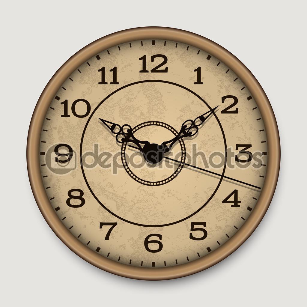 Antiguo reloj de pared antiguo vector de stock 48073585 - Relojes grandes de pared vintage ...