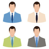 Businessman avatar set — Stock Vector