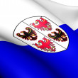 Trentino-Alto Adige Flag, Italy. - Stock Photo