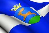 Flag of Wonseradeel, Netherlands. — Stock Photo