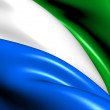 Stockfoto: Flag of Sierra Leone