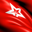 Stock Photo: Naval Jack of the Soviet Union