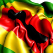 Zimbabwe African National Union Flag - Stock Photo