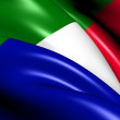 Stock Photo: Transvaal and South AfricRepublic Flag