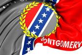 Flag of Montgomery, USA. — Stock Photo