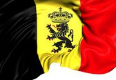 Government Ensign of Belgium — Stock Photo