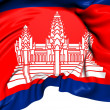 Stock Photo: Flag of Cambodia
