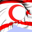 Stock Photo: Turkish Republic of Northern Cyprus Flag
