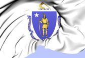 Bandeira do massachusetts, estados unidos da américa. — Foto Stock