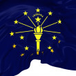 Stock Photo: Flag of Indiana, USA.