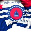 Flag of Jefferson City, USA.  — 图库照片