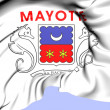 Department of Mayotte Flag — Foto de Stock