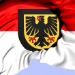 Flag of Dortmund, Germany.  — Stock Photo