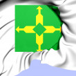 Stock Photo: Federal District Flag, Brazil.