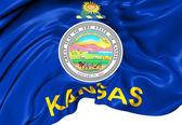 Flag of Kansas, USA. — Stock Photo