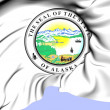 Stock Photo: State Seal of Alaska, USA.