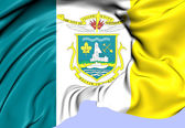 Flag of Yellowknife, Canada. — Stock Photo