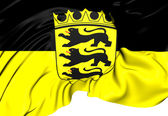 Flag of Baden-Wurttemberg, Germany. — Stock Photo