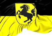 флаг города штутгарт, германия. — Стоковое фото