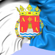 Flag of Alicante, Spain. — Stock Photo
